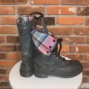 Dr Marten Rare Triumph Leather 12 Eye Moto Boot 7